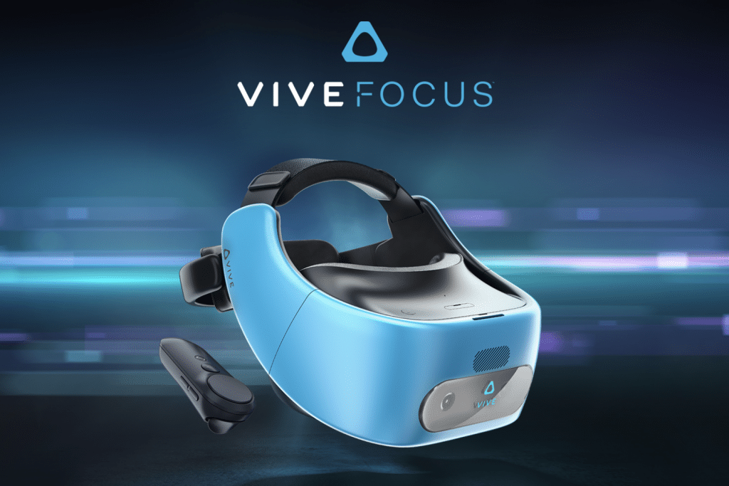 Mobiles VR Headset mit Blu Tooth Controller